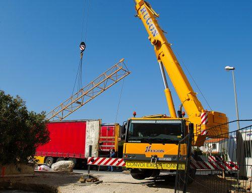 Montage d'une grue à tour Soïma SGT 5012TL à Canet-en-Roussilon – 1er partie