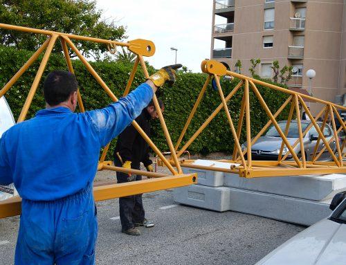 Montage d'une grue à tour Soïma SGT 5012TL à Canet-en-Roussilon – 3e partie